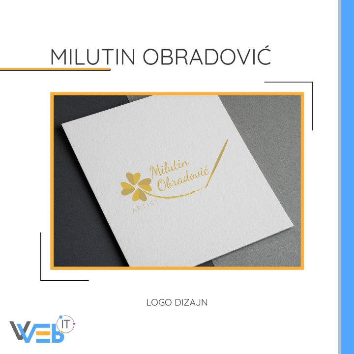 Milutin Obradović - logo