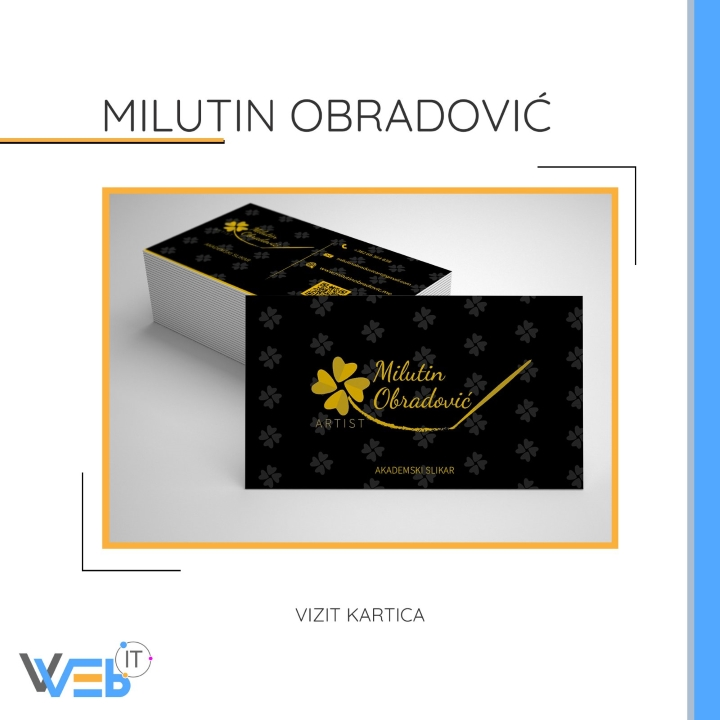 Milutin Obradović - vizit kartica