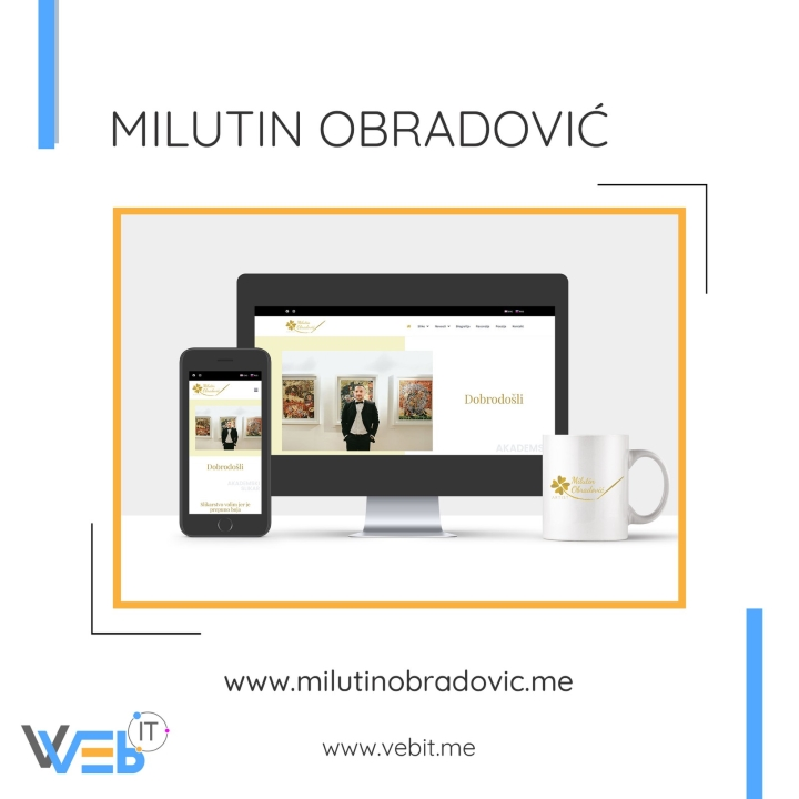 Milutin Obradović - web sajt